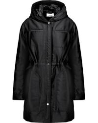 Carven | Gathered Twill Hooded Coat | Lyst