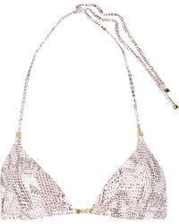 Heidi Klum - Sun Dappled Decadence Snake-print Triangle Bikini Top - Lyst