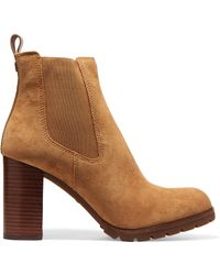 Tory Burch - Stafford Suede Ankle Boots - Lyst