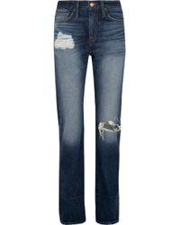 J.Crew | Distressed High-rise Boyfriend Jeans | Lyst