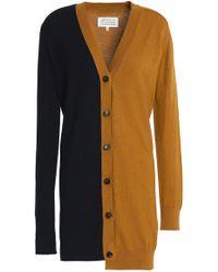 Maison Margiela - Asymmetric Two-tone Cotton Dress - Lyst