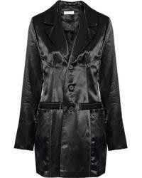 Beaufille - Woman Alecto Satin-crepe Blazer Black - Lyst