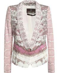 Roberto Cavalli - Printed Silk-blend Blazer - Lyst