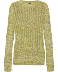 JOSEPH - Marled Open Cable-knit Cotton-blend Sweater - Lyst