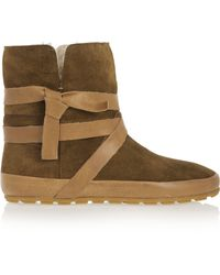 Isabel Marant - Nygel Leather And Shearling Ankle Boots - Lyst