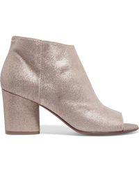 Maison Margiela - Metallic Textured-leather Ankle Boots - Lyst