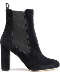 M Missoni Velvet Ankle Boots Black