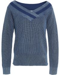 Rag & Bone - Dawn Ribbed Cotton Jumper - Lyst