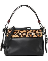 Marc By Marc Jacobs - Embellished Leopard-print Calf Hair-paneled Leather Shoulder Bag - Lyst
