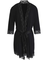 Mimi Holliday by Damaris - Lace And Grosgrain-trimmed Jersey Robe - Lyst