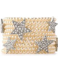 Ben-Amun - Silver-tone, Faux-pearl And Crystal Bracelet - Lyst
