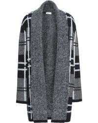 Soft Joie - Checked Jacquard-knit Cardigan Dark Gray - Lyst