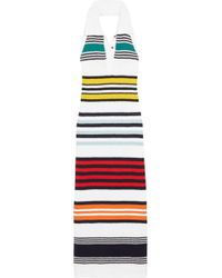 Rosie Assoulin - Striped Cotton Halterneck Maxi Dress - Lyst