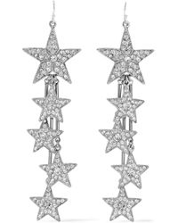 Ben-Amun - Silver-tone Crystal Earrings - Lyst