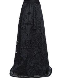 Alberta Ferretti - Fil Coupé Organza Maxi Skirt - Lyst