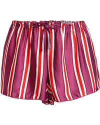 Love Stories - Striped Satin Pyjama Shorts - Lyst