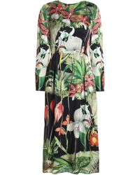 Adam Lippes - Printed Silk-satin Dress - Lyst
