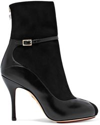 Charlotte Olympia - Incognito Suede And Leather Ankle Boots - Lyst