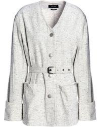 Isabel Marant - Belted Marled Denim Jacket - Lyst