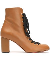 Chloé - Miles Leather Ankle Boots - Lyst