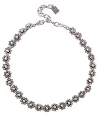 DANNIJO - Silver And Gunmetal-tone Crystal Necklace Silver - Lyst