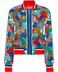 b9b77d7efdfd Emilio Pucci - Printed Silk-twill Bomber Jacket - Lyst