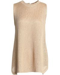 Brunello Cucinelli - Sequined Linen And Silk-blend Jumper - Lyst