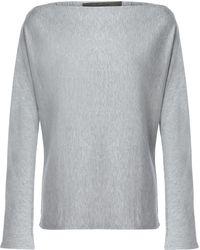 Enza Costa - Mélange Fleece Sweatshirt - Lyst