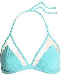 I.D Sarrieri - Mesh-trimmed Triangle Bikini Top - Lyst