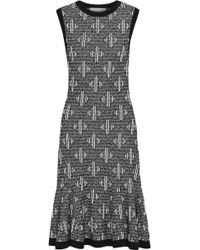 Carolina Herrera - Ruffled Wool-blend Jacquard Dress - Lyst