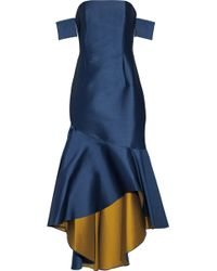 Sachin & Babi - Walia Off-the-shoulder Fluted Duchesse-satin Gown Storm Blue - Lyst