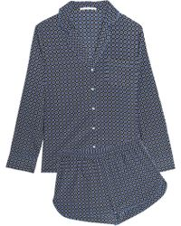 Stella McCartney - Poppy Snoozing Printed Stretch-silk Pyjama Set - Lyst