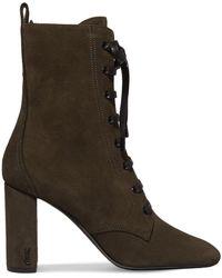 Saint Laurent - Lace-up Suede Ankle Boots - Lyst