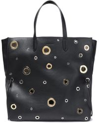 Jil Sander - Eyelet-embellished Leather Tote - Lyst