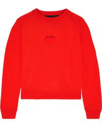 Paper London - Amore Cutout Wool Sweater - Lyst