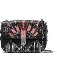 Valentino - Love Blade Embellished Leather Shoulder Bag - Lyst