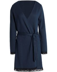 Cosabella - Lace-trimmed Stretch-knit Robe - Lyst