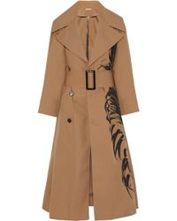 Oscar de la Renta - Printed Cotton-blend Twill Trench Coat - Lyst