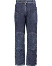 JW Anderson - Mid-rise Paneled Straight-leg Jeans - Lyst