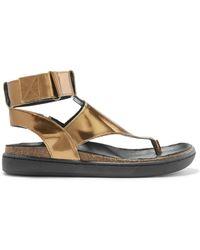 Atelje71 - Ajax Metallic Leather Sandals - Lyst
