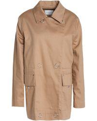 Sandro - Double-breasted Cotton-gabardine Jacket - Lyst