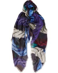 Christopher Kane   Printed Cotton And Modal-blend Scarf   Lyst