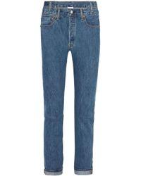 Vetements - Levis High-rise Slim-leg Jeans - Lyst