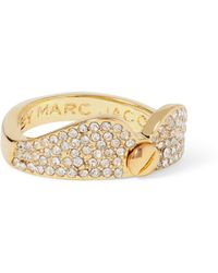 Marc By Marc Jacobs - Collar Gold-tone Crystal Ring - Lyst