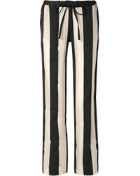Marques'Almeida - Striped Cotton And Silk-blend Gauze Trousers - Lyst