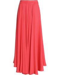 MILLY - Asymmetric Silk-blend Maxi Skirt - Lyst