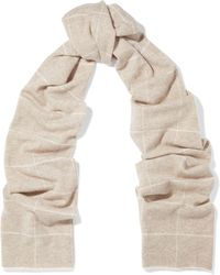 Madeleine Thompson - Checked Wool And Cashmere-blend Scarf - Lyst