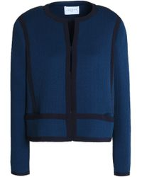 Sandro - Kimy Cloqué Jacket Cobalt Blue - Lyst