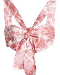 Zimmermann - Winsome Bow-embellished Tie-dye Twill Bra Top - Lyst