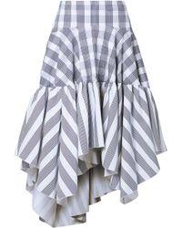 Antonio Berardi - Woman Printed Cotton-blend Poplin Skirt White - Lyst